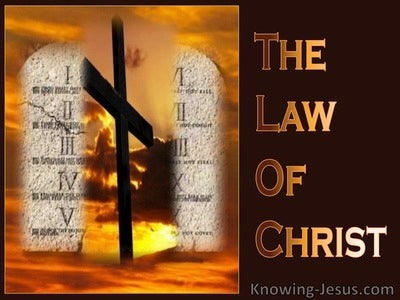 The Law Of Christ (devotional) - Romans 8:2