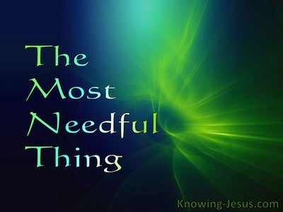 The Most Needful Thing (devotional)