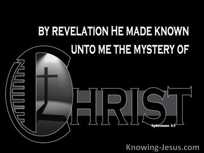 The Mystery of Christ (devotional) (black) - Ephesians 3:3