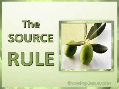 The Source Rule (devotional) (green) : 2 Peter 1:3