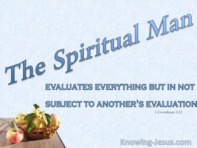 The Spiritual Man (devotional) - 1Corinthians 2:12