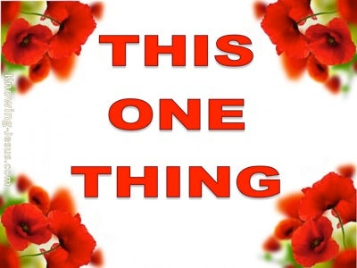 This One Thing (devotional) (red) - Philippians 3:13