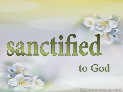 Romans 8:30 What About Sanctification (devotional)09:17 (white)