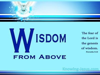 Wisdom From Above (devotional) (aqua) - Proverbs 9:10