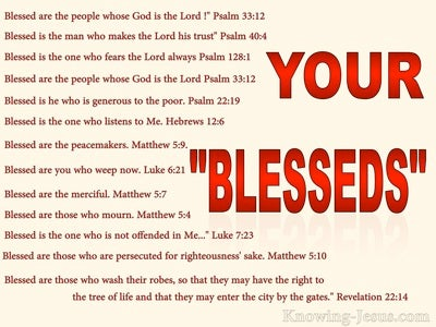 Your Blesseds (devotional) (cream) - Psalm 33:12