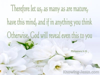 Philippians 3:15 Established in the Faith (devotional)09:16 (sage)