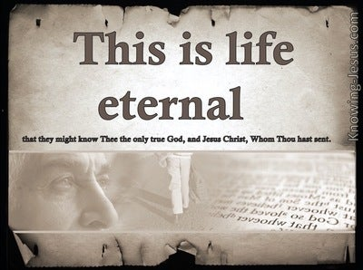 John 17:3 This Is Eternal Life (brown)
