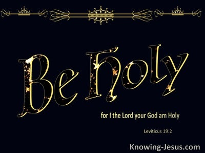 Leviticus 19:2 Be Holy For I Am Holy (black)