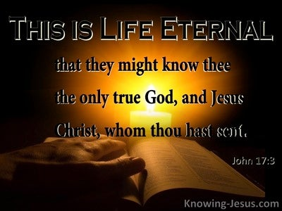 John 17:3 Make Yourself Known to Me (devotional)09:30 (black)