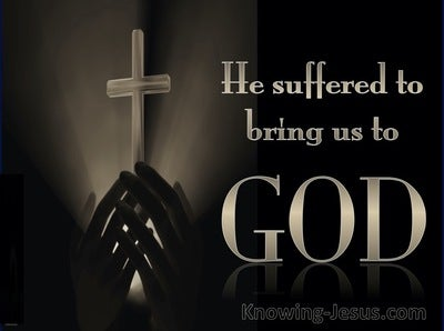 1 Peter 3:18 Christ Suffered To Bring Us to God (bronze)