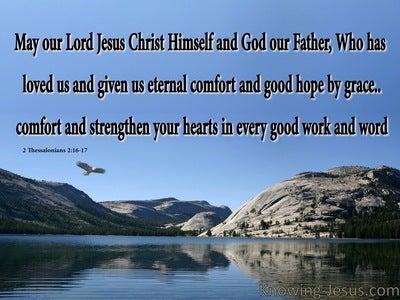 2 Thessalonians 2:16 Eternal Comfort and Good Grace (blue)