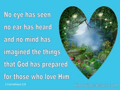 1 Corinthians 2:9 Eye No Eye Has Seen The Thing (aqua)