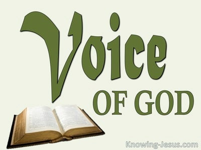 Hebrews 1:1 The Voice of God (devotional)07:20 (green)
