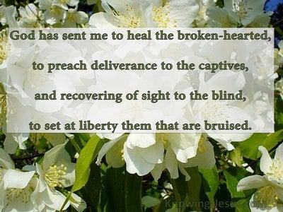 Luke 4:18 Beauty For Brokenness (devotional)01:11 (green)
