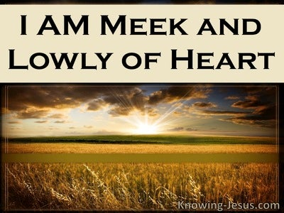 Matthew 11:29 Meek And Lowly Of Heart (cream)