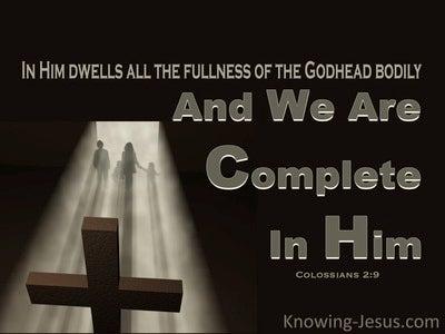 Colossians 2:10 Complete in Him (devotional)05:30 (black)
