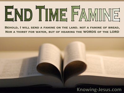 Amos 8:11 End Time Famine (devotional)10:15 (beige)