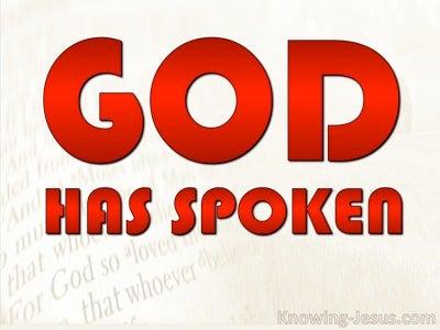 Hebrews 1:1 God Has Spoken (devotional)07:19 (red)