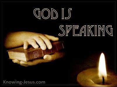 Hebrews 1:1 God Is Speaking (devotional)05:15 (brown)