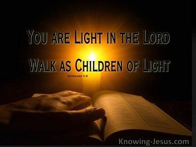 Ephesians 5:8 God, My Light (devotional)03:09 (brown)