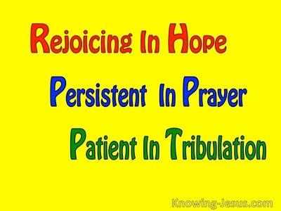 Romans 12:12 God's Gift of Hope (devotional)06-06 (yellow)