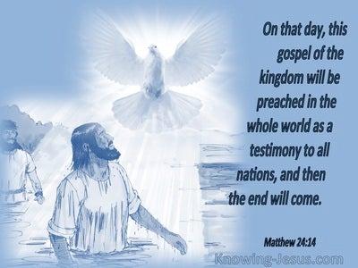 Matthew 24:14 Israel's Messiah King (devotional)10:07 (blue)
