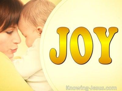 John 16:21 She No Longer Remembers Pain For The Joy (yellow)