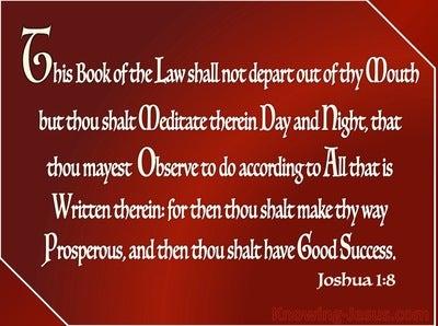 Joshua 1:8 Meditate on Gods Word (maroon)
