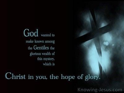 Colossians 1:27 Just Loving On Jesus (devotional)08:02 (aqua)