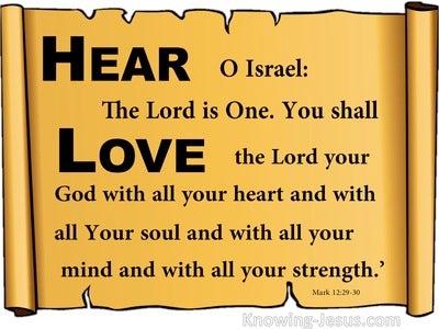 Mark 12:29 Listen and Love (devotional)11:29 (brown)