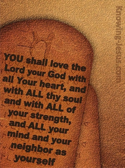 Luke 10:27 You Shall Love The Lord Your God (brown)