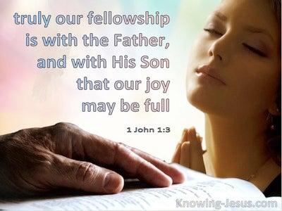 1 John 1:3 Maintaining Fellowship  (devotional)04:10  (pink)