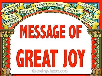 Luke 2:10 Message of Great Joy (devotional)08:27 (red)