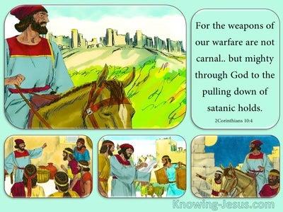2 Corinthians 10:4 Nehemiah Man of Action (devotional)12:02  (aqua)