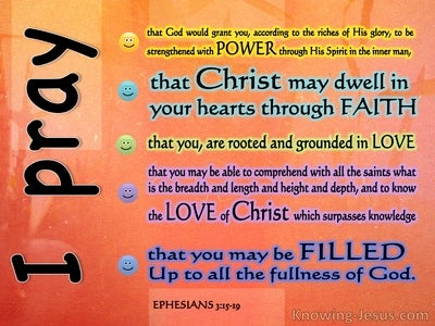 Ephesians 3:15 Paul's Precise Prayer (devotional)12:20   (orange)