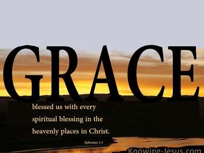 Ephesians 1:3 Pinnacle Of Grace (devotional)12:05 (black)