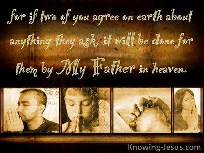 Matthew 18:19 Prayer Changes Things (devotional)08:02 (brown)