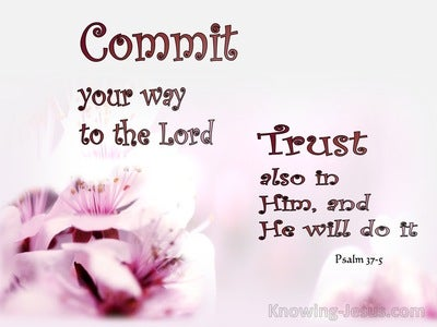 Psalm 37:5 Commit Your Way To The Lord (maroon)