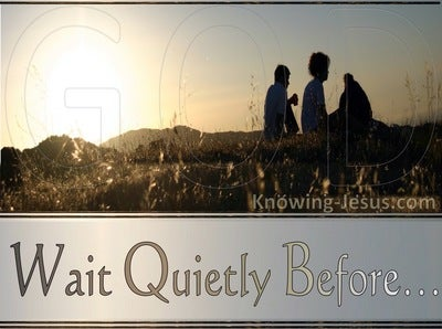 Psalm 62:5 My Soul Wait Quietly For God (cream)