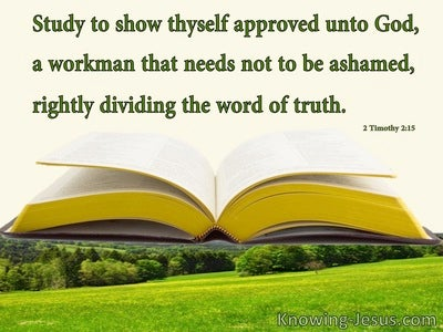2 Timothy 2:5 Rightly Dividing the Physical and Spiritual Realms (devotional)11:28 (cream)