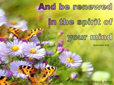 Ephesians 4:23 Spiritual Renewal (devotional) (green)