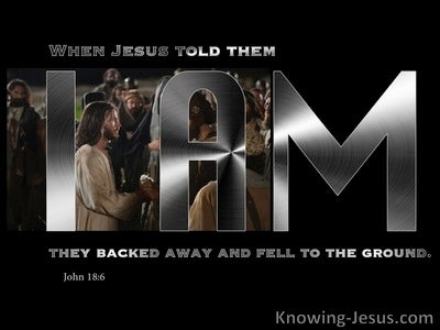John 18:6 They Backed Away And Fell To The Ground (silver)