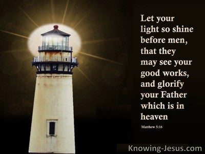 Matthew 5:16 The Light Of The LORD (devotional)08:06 (brown)