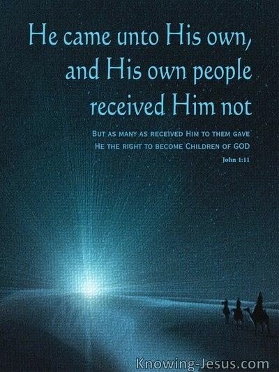 John 1:11 Where is He (devotional)07:11 (navy)
