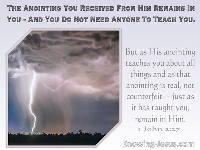1 John 2:27 The Anointing You Received From Him Remains In You (windows)11:07