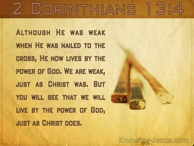 2 Corinthians 13:4 We Will Live By The Power Of God (windows)04:23