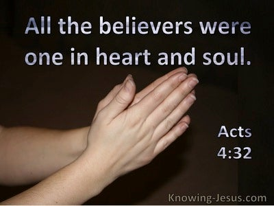 Acts 4:32 All The Believers Were One In Heart And Soul (windows)11:22
