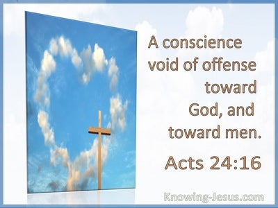 Acts 24:16 A Conscience Void Of Offense Toward God And Men (utmost)05:13