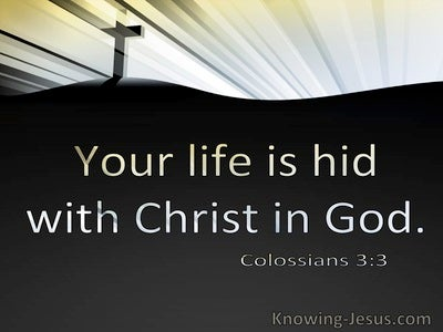 Colossians 3:3 Your Life Is Hid WIth Christ In God (utmost)12:24