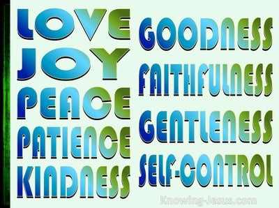 Galatians 5:22 The Fruit Of The Spirit Is Love (green)